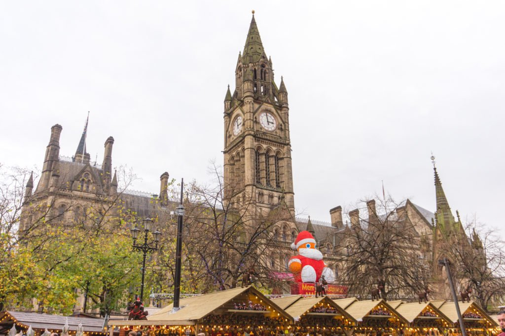 Manchester Neo-Gothic Town Hall. • Manchester Christmas Market: 25 Photos to Inspire You to Visit