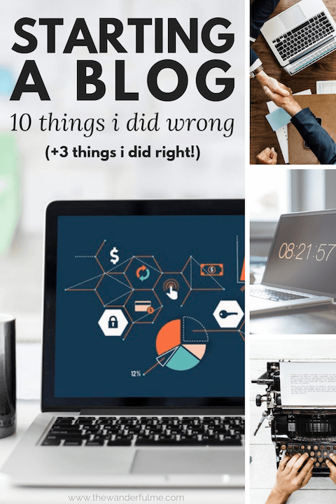 Starting a blog isn't hard! Especially when you have these helpful blogging tips. Here are 10 things I did WRONG when blogging and 3 things I did RIGHT! | #blog #blogging #bloggingtips