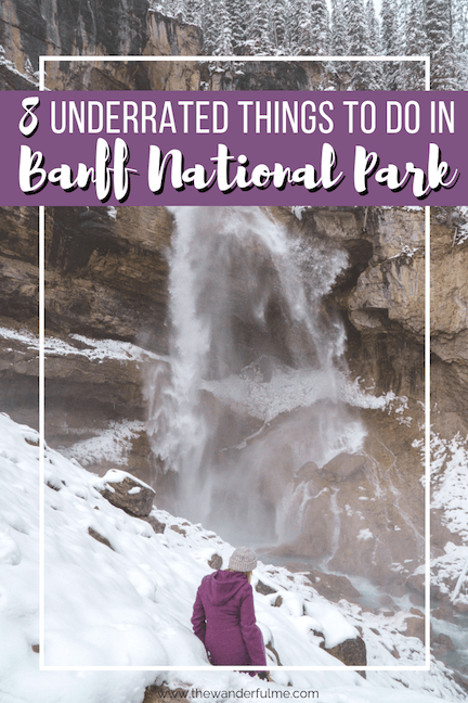 There's nothing more magical than visiting Banff! But go off the beaten path a bit with these 8 underrated things to do in Banff National Park. #banff #nationalpark #canada #travel