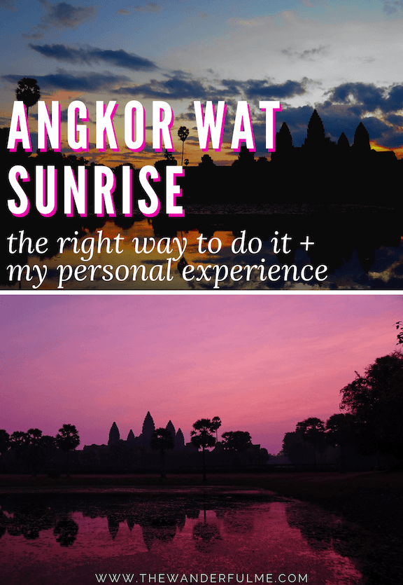 Ready to experience the best Angkor Wat sunrise? There are a few things to take into account before visiting! Here's the RIGHT way to do it, plus my personal experience! #angkorwat #cambodia #southeastasia