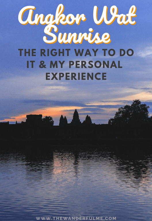 Thinking of visiting Angkor Wat for sunrise? There's a few things to consider that'll make your adventure awesome! Here's the RIGHT way to the Angkor Wat sunrise + my personal experience (it's not great!). #angkorwat #cambodia #southeastasia