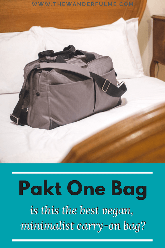 Searching for the ultimate vegan carry-on bag that's both minimalistic and durable? Check out the Pakt One bag! #paktone #pakt #travel #packing