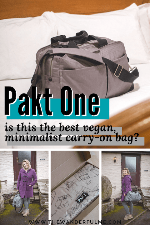 Are you on the hunt for the best vegan, minimalist carry-on bag? Your hunt ends here! Check out the Pakt One bag for yourself and be wowed. #pakt #paktone #travel #packing