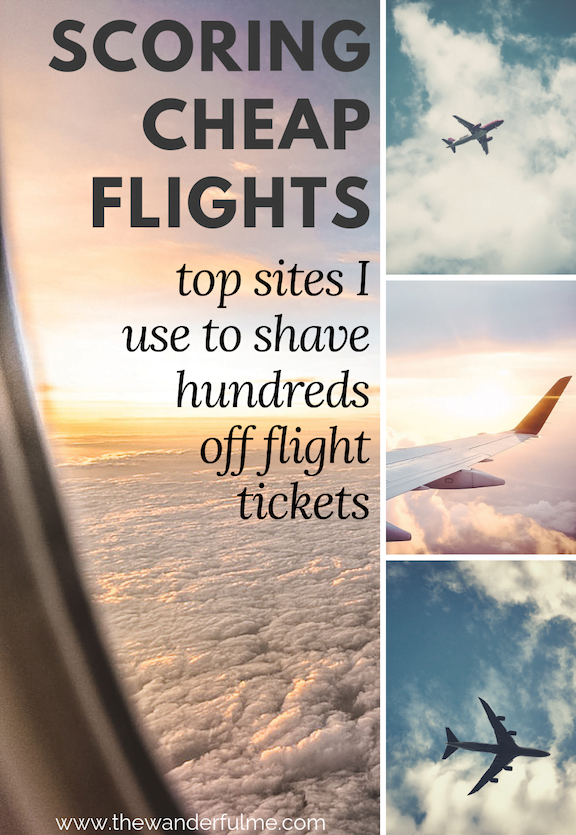 Scoring cheap flights isn't hard, especially when you have an arsenal of flight booking sites behind you to find the best deals! Here are the best sites I use to shave hundreds off flight tickets. #flying #travel #traveltips