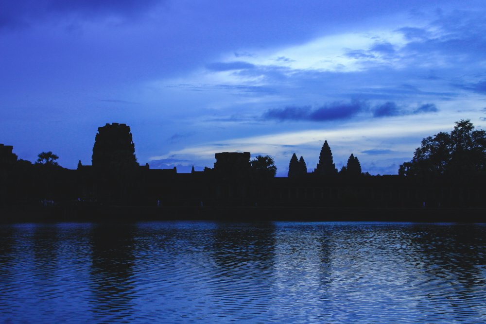 A very anti-climatic sunrise at Angkor Wat. • Angkor Wat Sunrise - The RIGHT Way to Do it + My Personal Experience