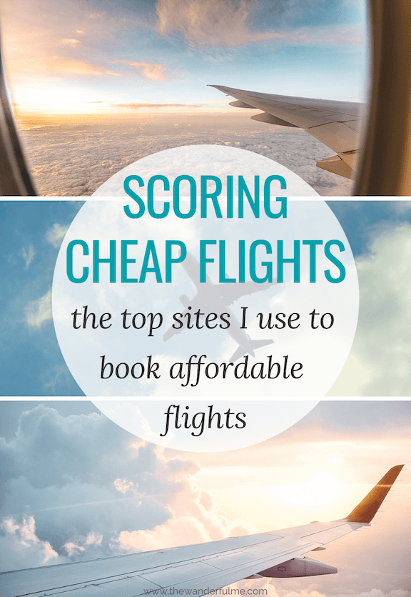 Ready to score some sweet deals on flights? Here are the top sites I use to book affordable flights all around the world! #flights #flying #traveltips
