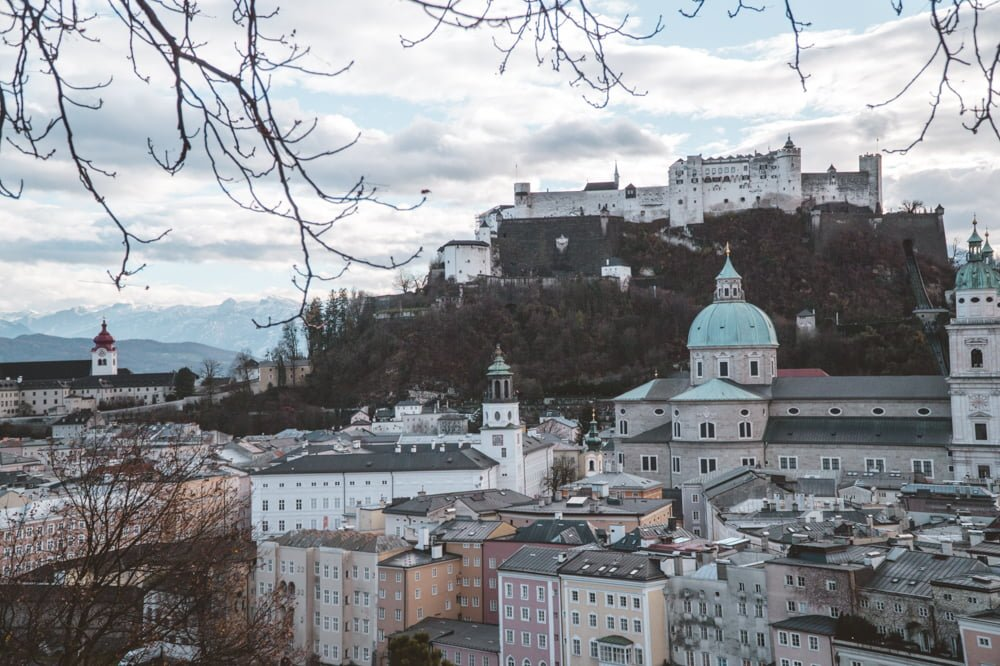 Salzburg views from the Kapuzinerkloster •The Ultimate List of the Best Things to Do in Salzburg, Austria