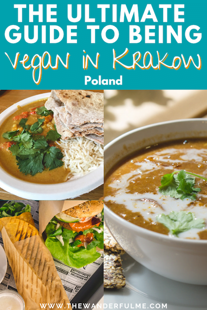 Ready to find some delicious vegan eats in Krakow, Poland? There's tons of like vegan pierogis, burgers, gyros, cakes, and MORE! Here's the ultimate guide to being vegan in Krakow. #krakow #poland #vegan #vegantravel