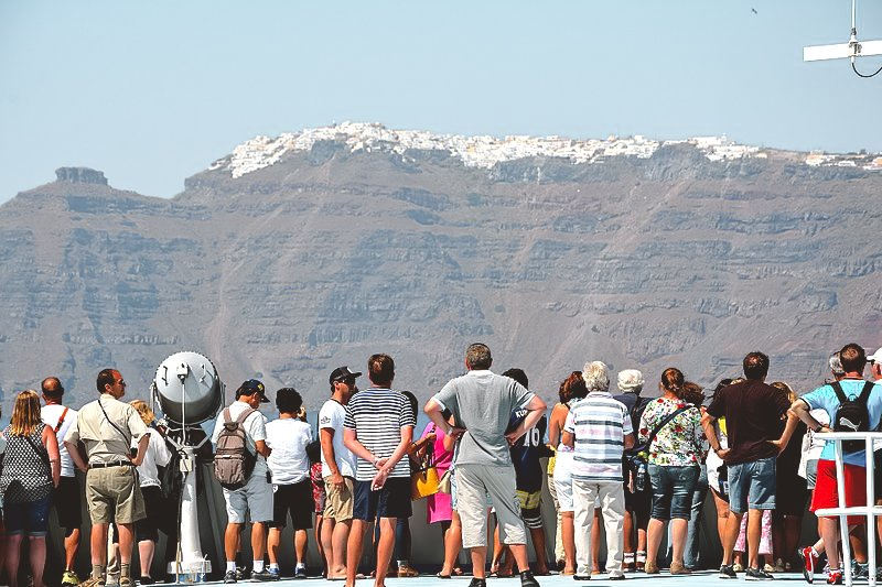 Santorini, Greece, is just one of many people suffering from overtourism.