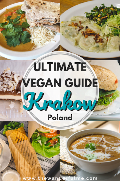 Looking for some vegan eats in Krakow? Vegan pierogis, burgers, cake, and more, you'll find tons of options! Here's the ultimate vegan guide to Krakow, Poland. #krakow #poland #vegantravel #vegan