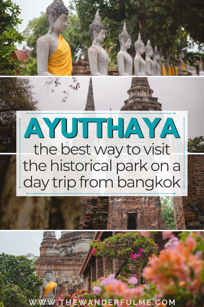 Planning an Ayutthaya day tour is effortless when you plan it this way! The historical park is waiting... discover the magic for yourself! | #ayutthaya #bangkok #thailand #asia #travel #tips #daytrip