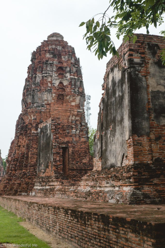 The red brick of Ayutthaya's temples is mesmerizing! Even though most are crumbling, they've stood for centuries and will endure.