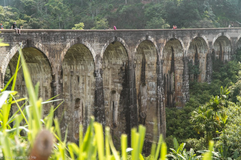 The beautiful Nine Arch Bridge located near Ella, Sri Lanka.