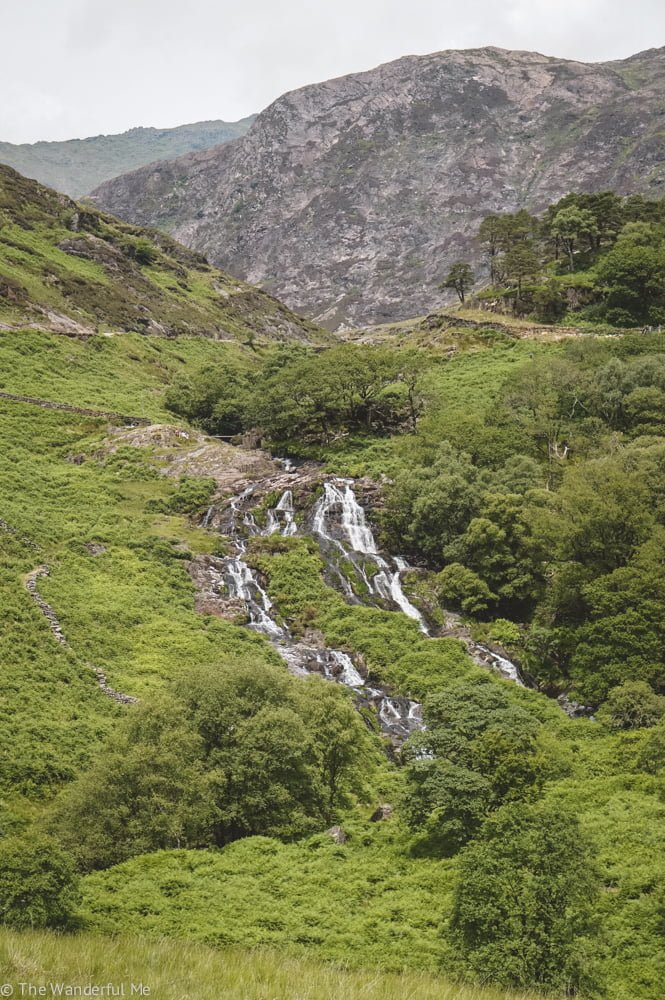 Hiking around waterfalls in Snowdonia National Park is one of the best things to do on a day out in North Wales!