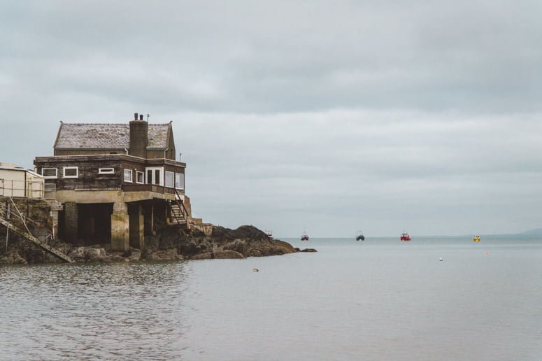 Seaside home perched up on the Welsh coast.