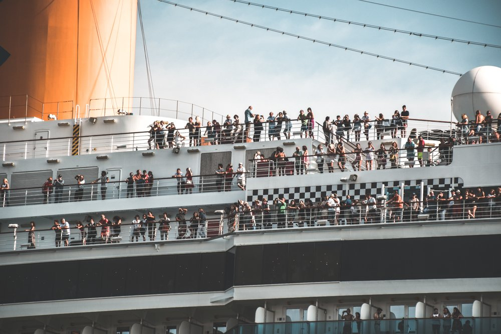 A packed cruise ship sets sail with thousands of guests that'll create huge amounts of plastic pollution, food waste, and sewage -- all which might be dumped straight into the ocean.