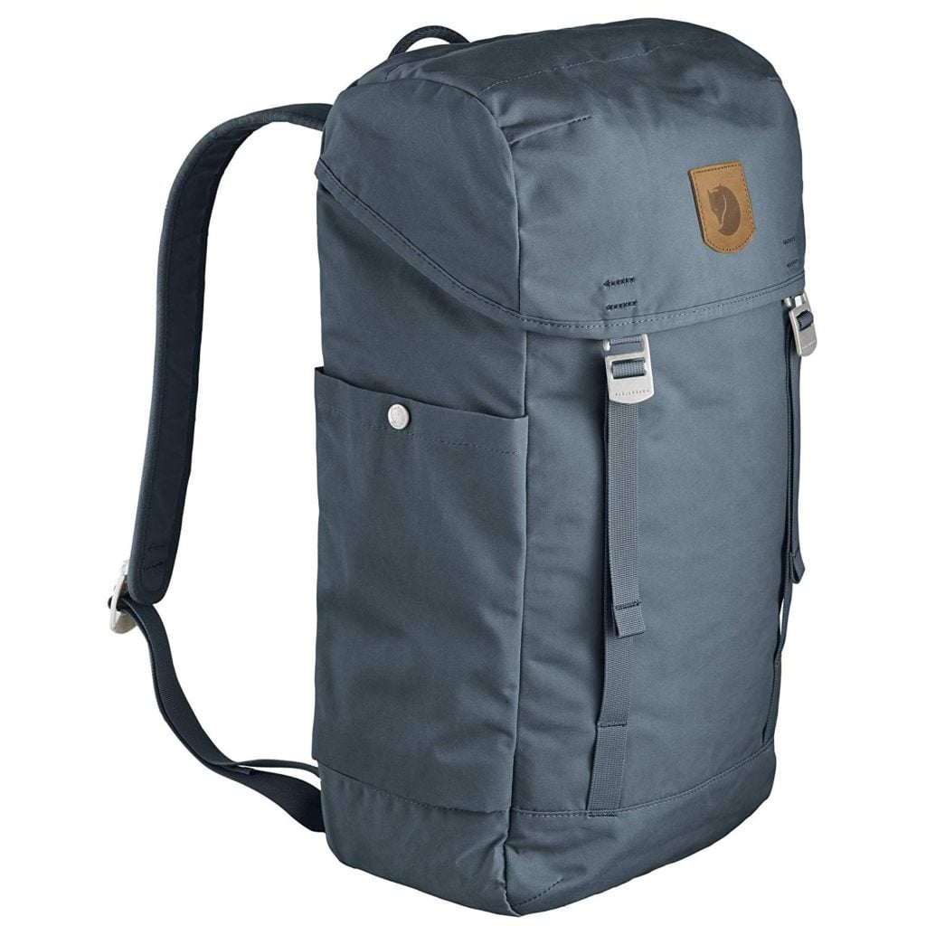 Fjällräven Greeland Top Backpack is made from low impact materials, making it one of the best sustainable travel bags.