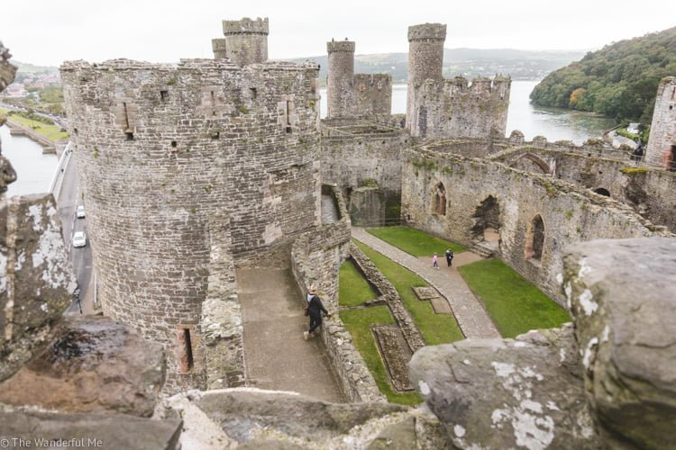 Conwy Castle is particularly good for a day out in North Wales, as it gives visitors a chance to view a lovely castle and see the seaside.
