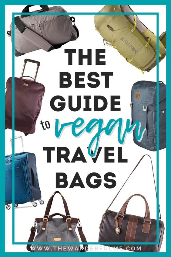 If you're looking for a great vegan travel bag that's ethically made, eco-friendly, and sustainable, I've got the list for you! Here's my best guide to vegan travel backpacks, totes, duffels, and more. | #packing #vegan #travel #luggage #tips