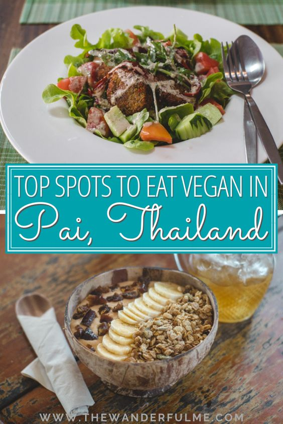 Are you a vegan traveling in Thailand and heading to Pai? Though the town may be small, the vegan food is at large! Here's my list of top places to eat vegan in Pai, Thailand. | #vegan #pai #thailand #southeastasia #foodie #travel