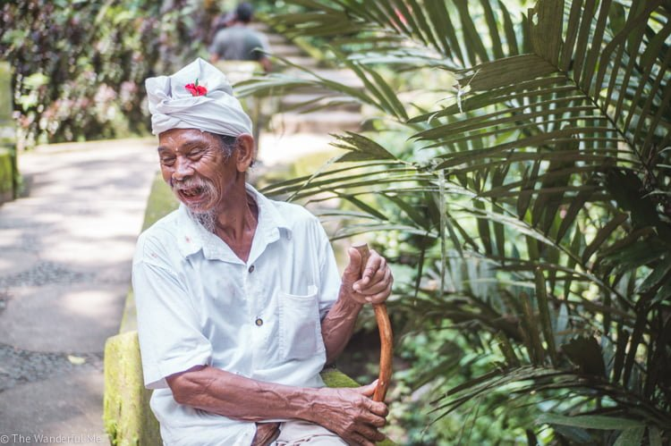 A happy, smiling old Balinese fella. Friendly faces are always present in Southeast Asia!