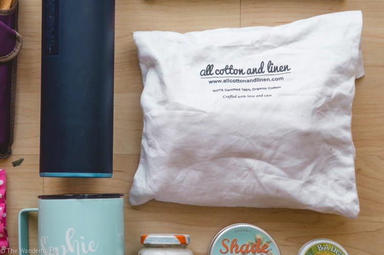 All Cotton and Linen reusable organic produce bags are a great way to pack along fruit and veg in a sustainable way.