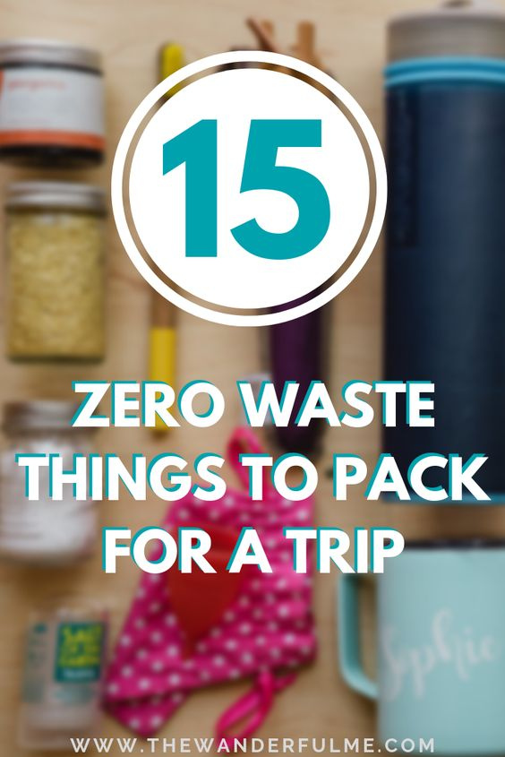 Want to be a more sustainable traveler by swapping out a few things and adding a few eco-friendly items into your pack? Check out my 15 favorite zero waste essentials to pack for a trip! | #zerowaste #sustainable #ecotourism #ecofriendly #travel