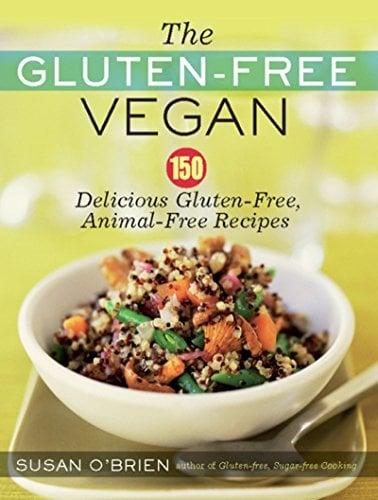 The book cover to Susan O'Brien The Gluten-Free Vegan cookbook.