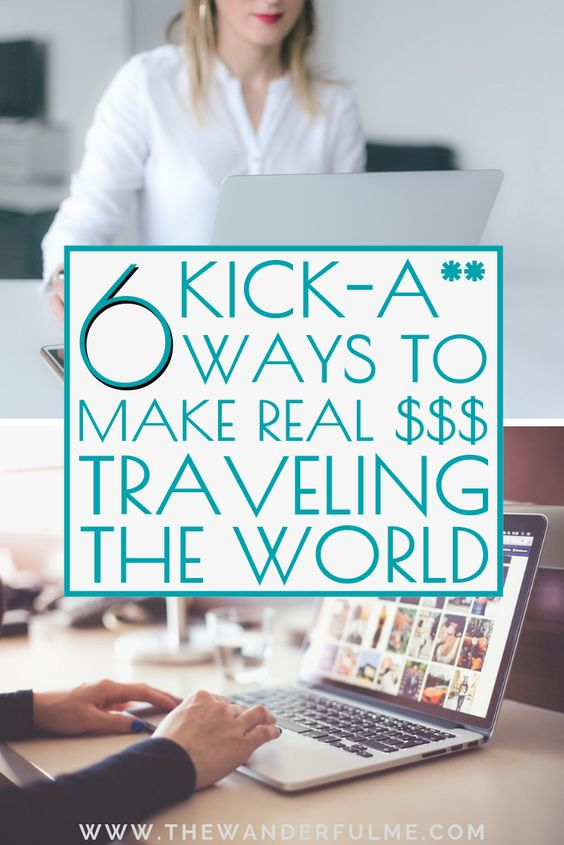 Ever wanted to be a digital nomad? Making money while traveling the world; sitting on a beach in Bali, working in Thailand, or making money while traveling and backpacking around Europe? Then this is the post for you! Here are 6 kick-a** ways to make REAL freakin' money traveling the world. | #moneymaking #money #traveling #travel #digitalnomad #freelance