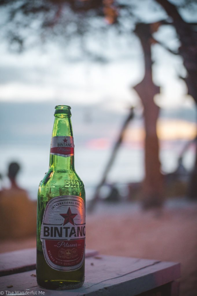 A bottle of Bintang on a calm night in Indonesia!