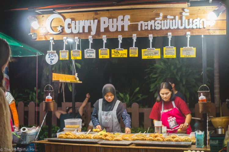 Street food stalls in Pai, Thailand -- eat at these if you want to save money on food in Southeast Asia!