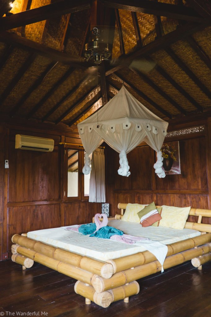 A top tip for backpacking Southeast Asia is not skimping on air conditioning! It was a blessing in this room in Ubud, Bali, Indonesia.