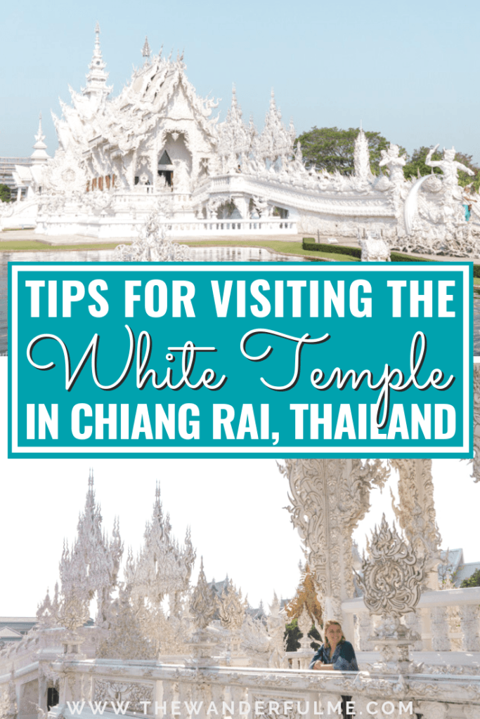 Want to visit the gorgeous White Temple in Thailand everyone seems to Instagram? The White Temple is Chiang Rai is notoriously popular amongst Southeast Asia travelers and backpackers - and for good reason! It's incredibly beautiful. BUT there are a few tips you should know before you go! Here are my top tips for visiting the White Temple in Chiang Rai, Thailand. | #chiangrai #thailand #whitetemple #tips #travel #southeastasia #asia
