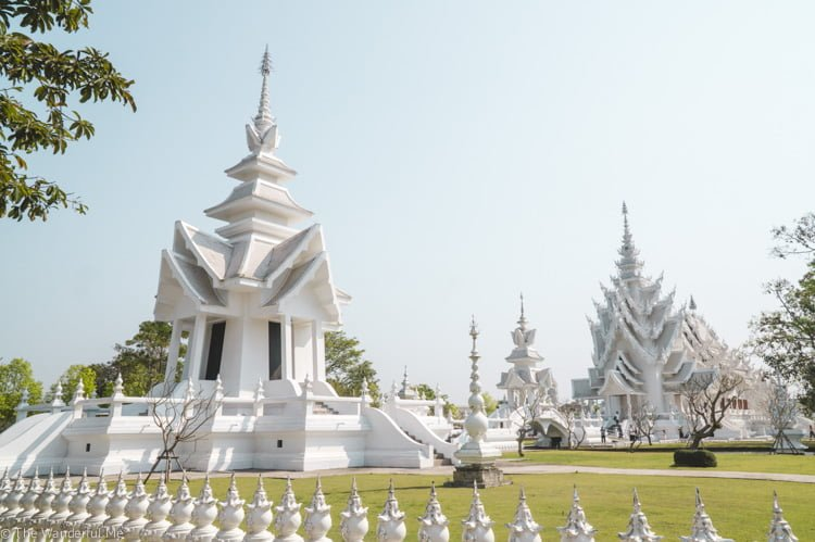 Chiang Rai's White Temple and its meticulously groomed grounds.