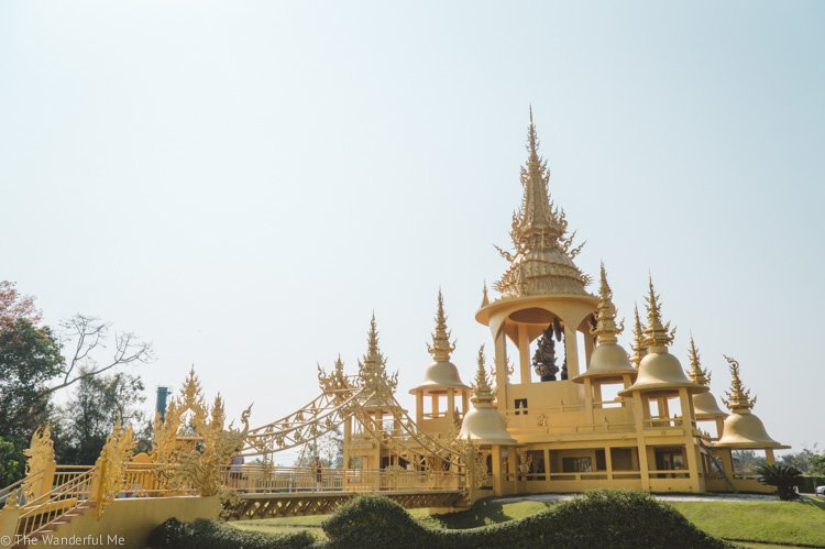Another Golden Temple, also located on the grounds of the White Temple in Chiang Rai, Thailand.