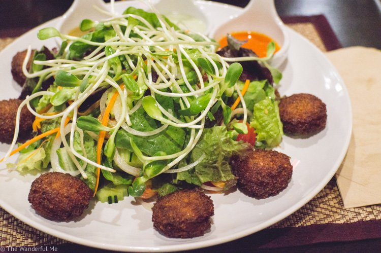 A vegan superfood falafel salad with a delicious dressing that'll blow your socks off.