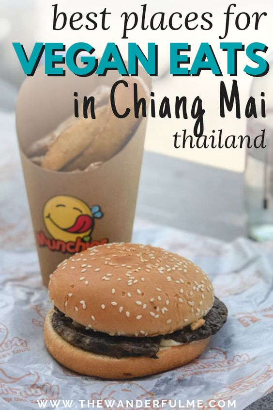 Want some mouthwatering vegan eats in Chiang Mai? Here's the ultimate guide to satisfy all your hunger needs! Whether you want some vegan curry, a vegan burger, vegan noodles, or even vegan pancakes, you'll find it in Chiang Mai. | #vegan #vegantravel #veganchiangmai #thailand #chiangmai #southeastasia #ecofriendly