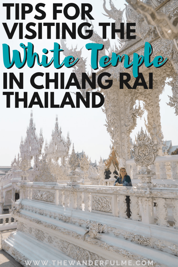 Ever seen the notorious, overly-Instagrammed White Temple and NEED to see it for yourself? I feel you! Here are my top tips for visiting the White Temple in Chiang Rai, Thailand (transportation, time, and essential things to know!). | #chiangrai #thailand #whitetemple #southeastasia #asia #tips