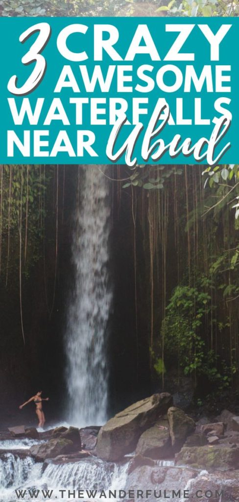 If you need some ideas on what to put on your itinerary or looking for things to do in Ubud, definitely take a look at this list of 3 crazy awesome waterfalls near Ubud! Some of the best in Bali, Indonesia, you HAVE to visit these beautiful places! | #bali #ubud #waterfalls