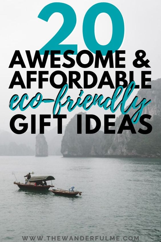 Make this Christmas season sustainable by getting all your favorite eco-friendly earth lovers these 20 awesome (and affordable) eco-friendly gift ideas! The holidays can be quite wasteful but not when you opt for these sustainable presents. Whether it's for a special woman in your life or a boyfriend, or even a best friend, they won't be disappointed with these eco friendly gifts. | #ecofriendly #sustainable #giftideas #christmas