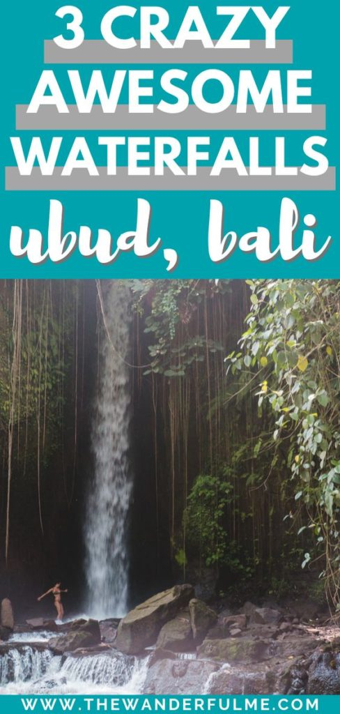 Are you traveling Bali and looking for some beautiful places to add to your Ubud itinerary? I've got 3 crazy awesome waterfalls you can't miss out on! From Tibumana to Tegenungan, these are definitely a few you NEED to see when in Indonesia. | #bali #waterfall #ubud #indonesia #itinerary