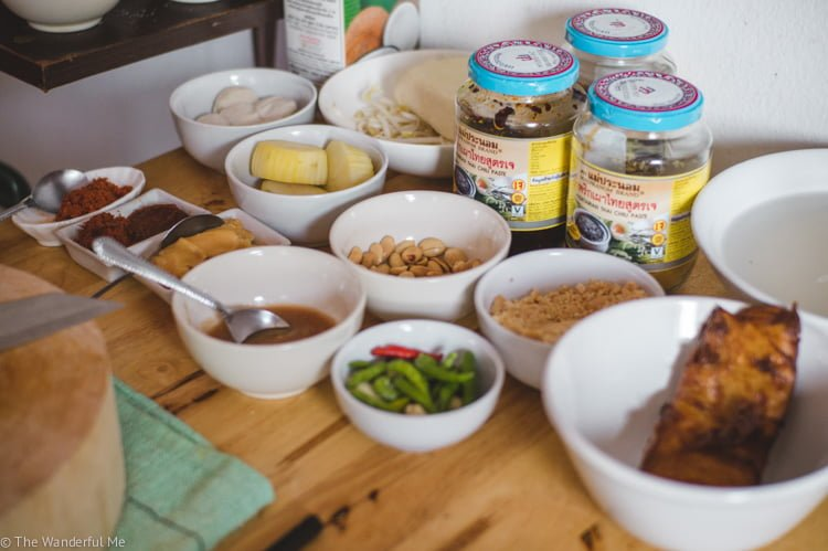 An array of Thai ingredients laid out just waiting to cook up a storm!