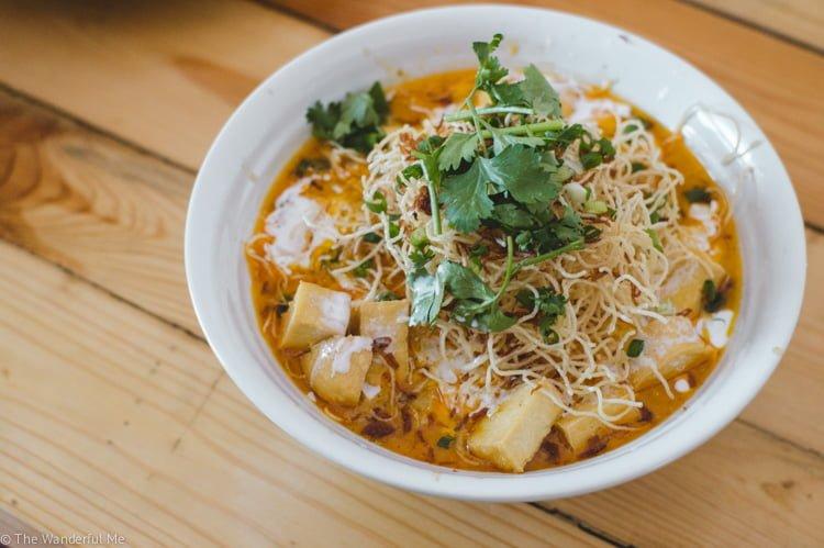 Vegan Khao Soi curry with tofu.