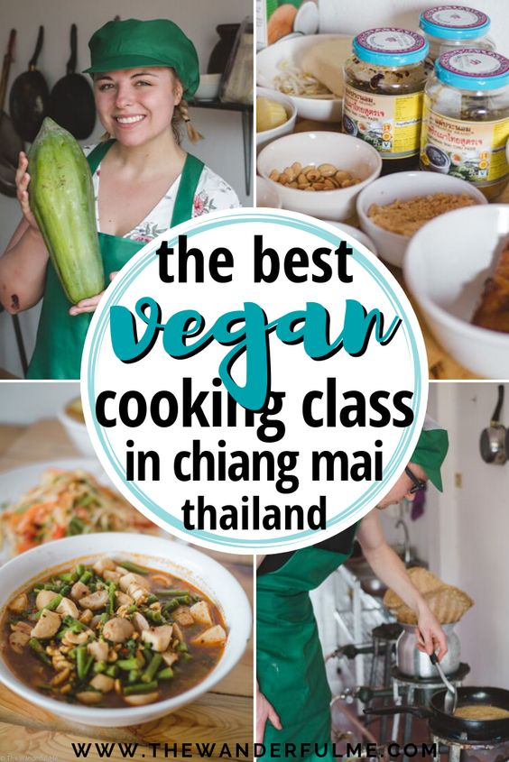 Learn how to cook traditional Thai food vegan style! From vegan Khao Soi and duck curry to vegan mango sticky rice and papaya salad, you can take up a vegan cooking class in Chiang Mai, Thailand, and learn from the experts! | #chiangmai #thailand #cookingclass #vegan