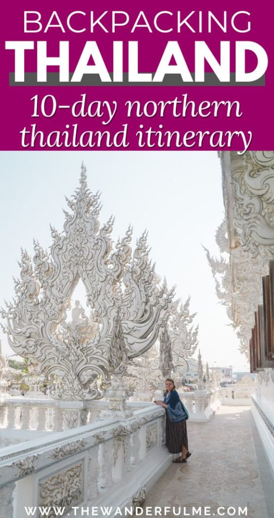If you're looking for the BEST 10-day Northern Thailand itinerary, here it is! From Chiang Rai to Pai with a cool stop in Chiang Mai, you can see it all with this adventure guide. Whether you want to stroll through Pai Canyon or waterfall hunt around Chiang Mai, or heck, even stop at an elephant sanctuary, this is your Northern Thailand travel guide.