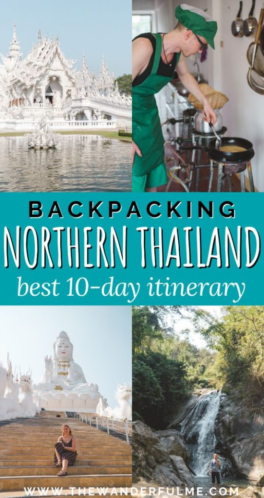 From Chiang Mai to Chiang Rai and Pai, this Northern Thailand backpacking itinerary helps you see the best of this beautiful country. Featuring mountains, waterfalls, temples, caves, and more, this 10-day Thailand adventure can help you plan the ultimate Thailand trip.