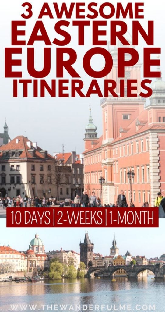 If you're thinking of backpacking or traveling Eastern Europe for 10 days, 2 weeks, or even one big fat awesome month, then you NEED to take a look at these fantastic Eastern Europe itineraries! Hitting all the best spots, like Prague, Budapest, and even Romania, this Eastern Europe travel guide will help you plan the ultimate trip.