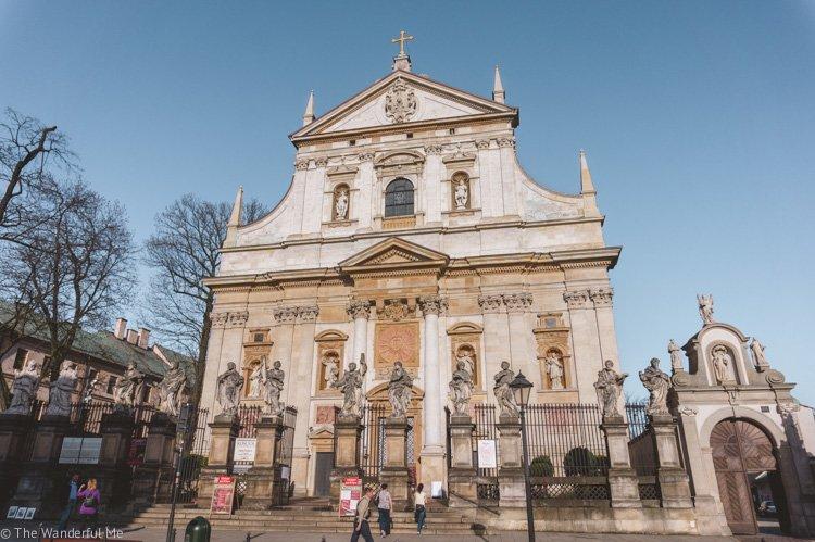 A gorgeous church in Krakow, Poland.