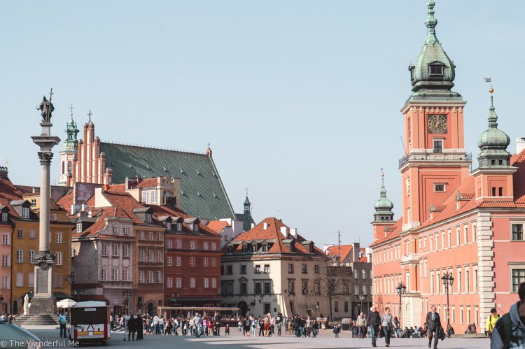 The main square of Warsaw, Poland.