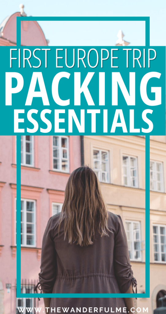 Are you heading out on your first Europe trip but you're not sure what to pack? Here are 11 Europe packing essentials most travelers forget to bring along! From a travel adaptor to a power bank, you NEED to make sure to remember these must-have Europe packing essentials. In addition to all of your clothing, this is a most short Europe packing checklist of underrated things to pack.